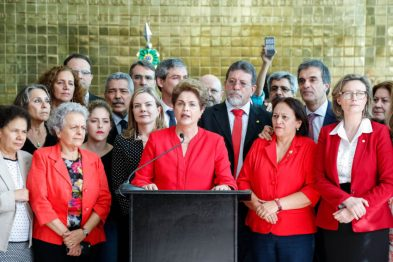 A presidenta Dilma Rousseff se despede do cargo, apoiada por Lula, dirigentes partidários, colaboradores, lideranças parlamentares, dos movimentos sociais - Fotos: Roberto Stuckert Filho/PR?Fotos Públicas