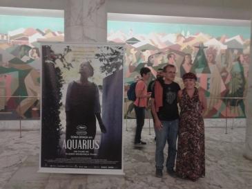 No saguão do Cinema São Luiz - o clique é de uma gentil pernambucana requerida