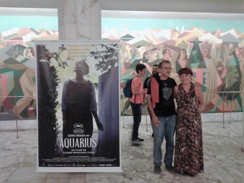 No saguão do Cinema São Luiz - clicados por uma gentil pernambucana