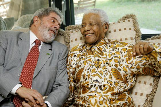 Lula e Mandela - Foto: Ricardo Stuckert Filho