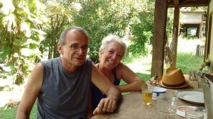 Em boa companhia. Clicados por Juliana Soares, nossa anfitriã - junto com Frederico Carvalho