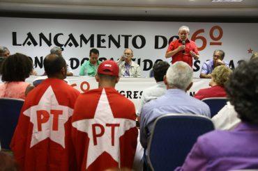 Ex-presidente Lula no lançamento do 6º Congresso Anual do PT, a ocorrer em junho deste ano