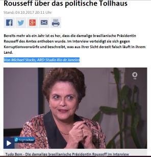 Entrevista tv alemã - RJ 03.10