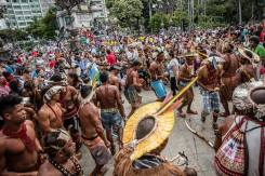 Índios em protesto_Jornalistas livres
