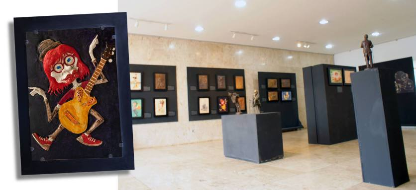 CerâmicaRita Lee na Fundaçãi Ctural Carlos Drjmon de Andrade em Itabira
