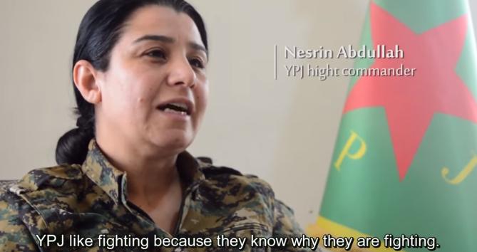 Nestrin abdullah - comandante maior YPJ