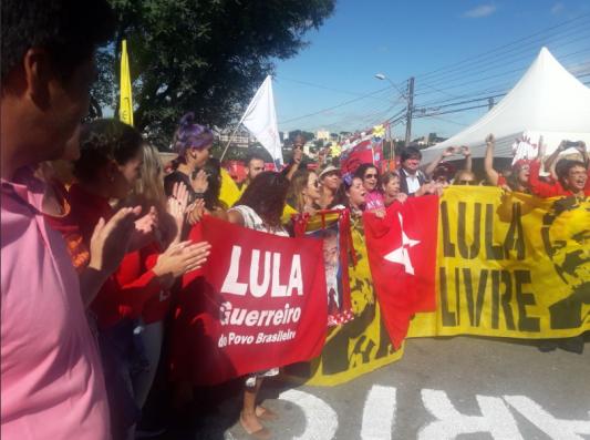 Manifestação em Curitiba... - Foto: captura de tela/AgPT