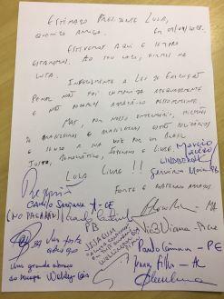Carta dos governadores a Lula -