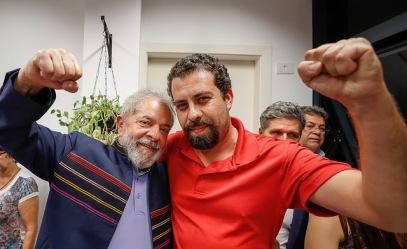 Boulos com Lula no Sindicato dos Metalúrgicos de São Bernardo, dia 07 de abril - Fotos: Ricardo Stuckert