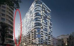 Anúncio de lançamento imobiliário excluiu o edifício, um ano anos do desabamento - Foto: Reprodução