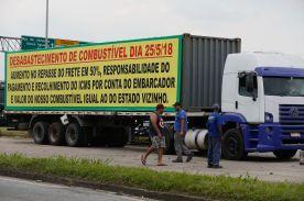 Protesto de caminhoneiros contra os preços do Diesel. BR-040, em Duque de Caxias/RJ .Foto :Fernando Frazão/Agência Brasil/Fotos Públicas