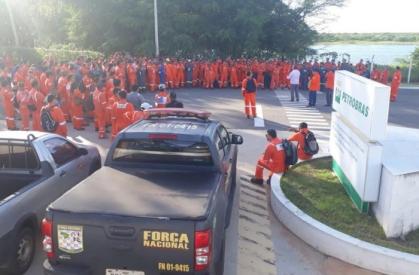 Assembleia de petroleiros em Duque de Caxias - Foto: FUP