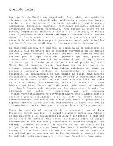 Carta Juan Grabois