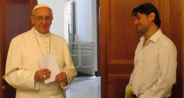 Gabrois e o papa - Foto: Vaticano Insider