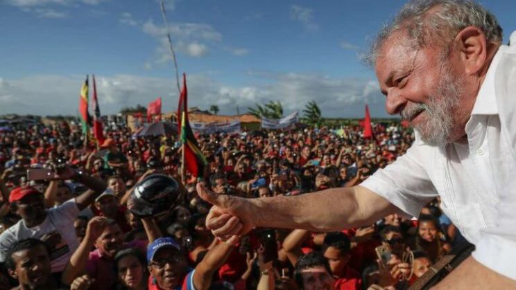 Lula em ato da Caravana Lula Pelo Brasil no Nordeste = Ricardo Stuckert