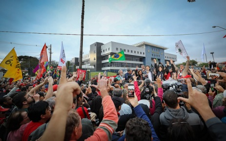 Anúncio na Vigília Lula Livre - Fotos: Ricardo Stuckert