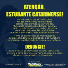 convcação dep ana carolie campagnolo-SC-Facebook-reprodução