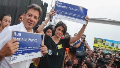 Haddad e Manu na comunidade da Maré, homenagem à Marielle Franco - Fotos: Ricardo Stuckert