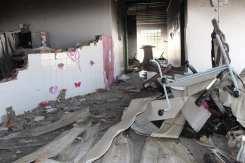 interior da escola Pankaruru destruída - FB