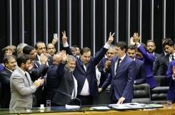 Rodrigo Maia comemora a eleição - Foto: Agência Câmara