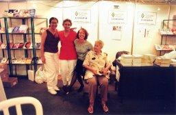 Rosa, Gê e Tia Tina no lançamento do Estação Ferrugem, 1998, BH - Carlos Avelin