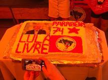 O bolo em Belo Horizonte