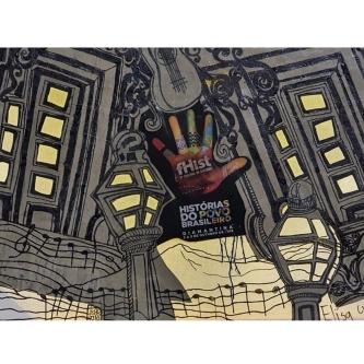 Painel da artista plástica Elisa Grossi, especialmente para o FHist