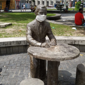 Carlos Pena Fº, Praça do Diário