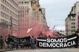 Antifas Recife caminharam pelo centro da cidade - Foto: FB/Antifascistas Sport