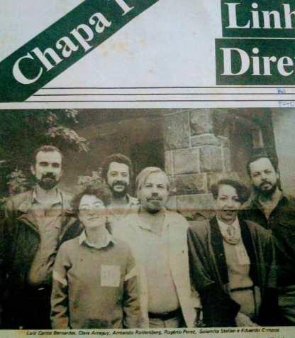 A foto do jornal da campanha em Minas - Vera Godoy