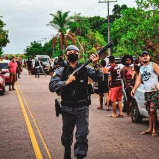 Polícia em protestos no Amapá
