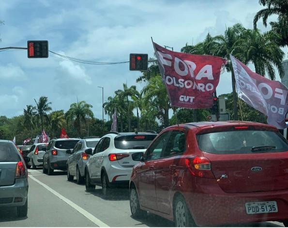 A carreata e bicicleata no Recife percorreu