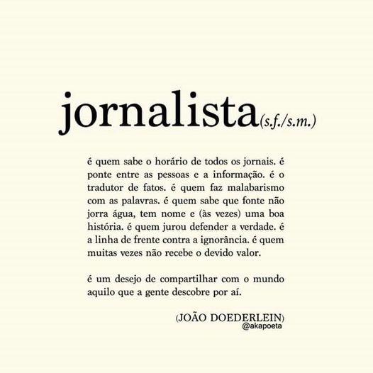 Poema jornalista - João Doederlein