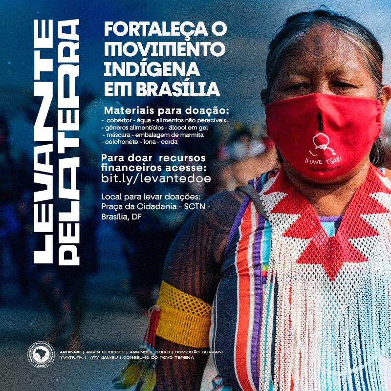 card doação indígena